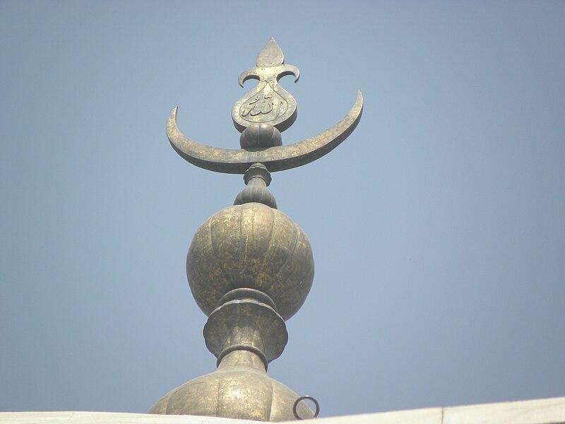 File:Taj Mahal top of finial.jpg