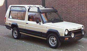 Minivan - Matra Rancho, one of the first LAVs