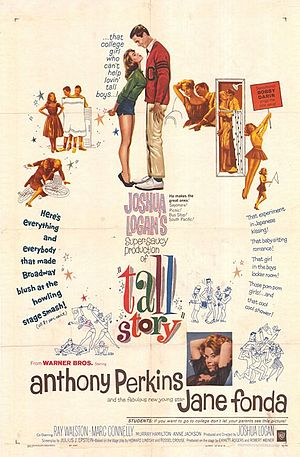 Tall Story - Original 1960 film promotion poster