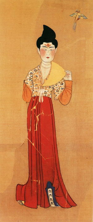 Banbi - Image: Tang Paintings of a Woman, Found in a tomb in desert of xinjiang
