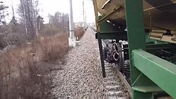 File:Tank railway wagon - view from train, Sapernaya - Pella.webm