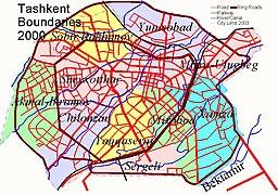 Mapo de la urbo