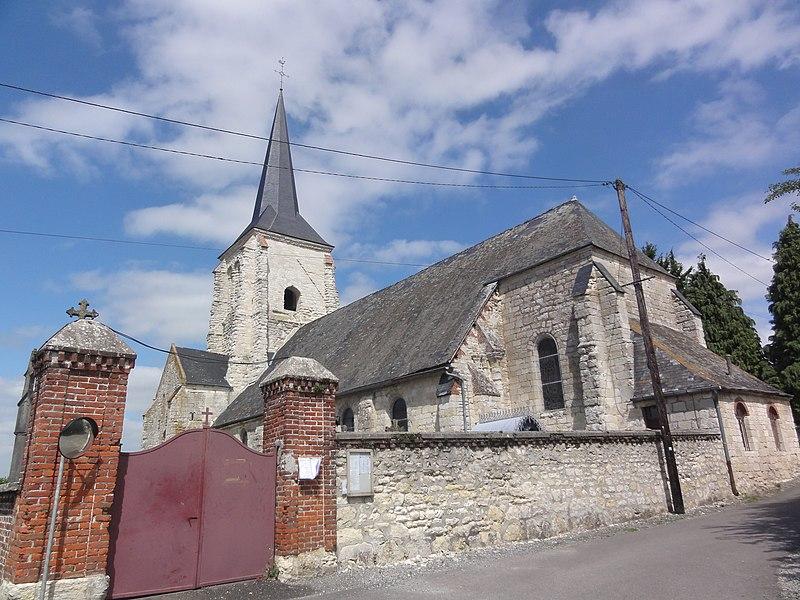 Tavaux-et-Pontséricourt (Aisne) église Notre-Dame de Tavaux