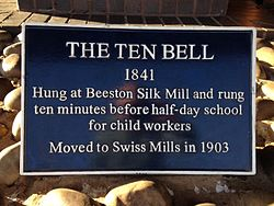 Ten bell plaque