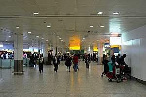 Heathrow Terminal 3 - Terminal 3 arrivals area