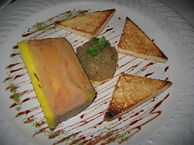 Image illustrative de l'article Terrine de foie gras au sauternes