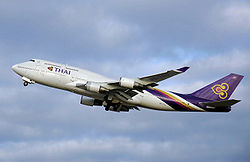 Boeing 747-400 der Thai Airways International