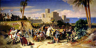 Crusade of 1197 - Reconquest of Beirut, Alexandre Hesse, 1842
