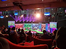 Studio view of the Big Fat Quiz of the Year set.