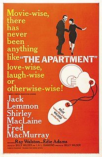 <i>The Apartment</i> 1960 American comedy-drama film directed by Billy Wilder