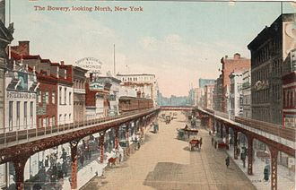 Bowery - Looking north from Grand Street, circa 1910