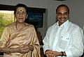 The Chief Minister of Andhra Pradesh, Dr. Y.S. Rajasekhara Reddy meeting with the Union Minister for Tourism and Culture, Smt. Ambika Soni, in New Delhi on November 03, 2006.jpg