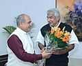 The Chief Minister of Kerala, Shri Oommen Chandy meeting the Union Minister for Mines and Steel, Shri Narendra Singh Tomar, in New Delhi on December 11, 2015.jpg