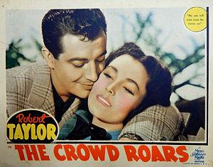 The Crowd Roars (1938 film) - Lobby card