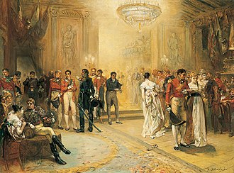 Miguel Ricardo de Álava - Álava (in decorated red uniform) at the Duchess of Richmond's ball in 1815