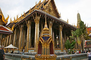 Emerald Buddha - The Wat Phra Kaew chapel where the Emerald Buddha is now kept in Bangkok