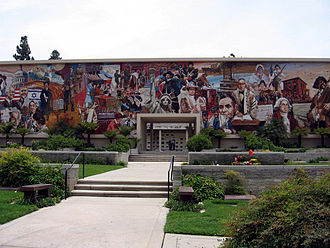 Mount Sinai Memorial Park Cemetery - The Heritage Mosaic at Mount Sinai Memorial Park in Hollywood Hills