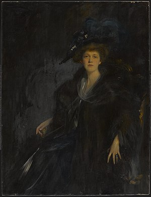 Linda Lee Thomas - Lady in Blue, painted by Emil Fuchs in 1906