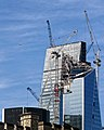 The Leadenhall Building (Cheesegrater) and The Scalpel under construction from Tower Bridge Approach.jpg