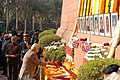 The Leader of Opposition in Lok Sabha, Shri L.K. Advani paying homage to the martyrs of the Parliament attack, in New Delhi on December 13, 2008.jpg