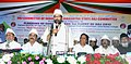 The Minister of State for Minority Affairs (Independent Charge) and Parliamentary Affairs, Shri Mukhtar Abbas Naqvi addressing the gathering at the flagging-off ceremony for 1st flight of Haj-2017, in Mumbai.jpg