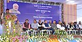 The Minister of State for Railways, Shri Rajen Gohain addressing the gathering at the foundation stone laying ceremony of Sairang Station building of Bairabi-Sairang New line Project, at Sairang, in Aizawl, Mizoram.jpg