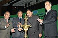 The Minister of State of Power, Shri Bharatsinh Solanki lighting the lamp to inaugurate the 'Indian Power Stations 2010 ─ A Power Plant O&M Event' of NTPC, in New Delhi on February 13, 2010.jpg