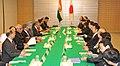 The Prime Minister, Dr. Manmohan Singh and the Prime Minister of Japan, Mr. Naoto Kan presided over the Indo-Japan delegation level talks, in Tokyo, Japan on October 25, 2010.jpg