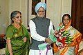 The Prime Minister, Dr. Manmohan Singh called on the President of India, Smt. Pratibha Patil, in New Delhi on July 26, 2007.jpg