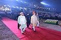 The Prime Minister, Shri Narendra Modi arrives at Haryana Swarna Jayanti Celebrations, in Gurugram, Haryana (1).jpg