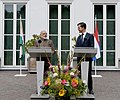 The Prime Minister, Shri Narendra Modi delivering his statement at the Joint Press Statement with the Prime Minister of Netherlands, Mr. Mark Rutte, at Amsterdam, Netherlands on June 27, 2017 (1).jpg