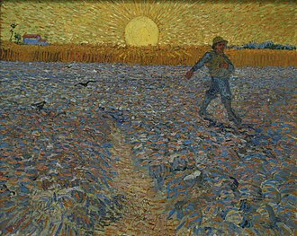 Wheat Fields (Van Gogh series) - The Sower, June 1888, Kröller-Müller Museum, Otterlo, Netherlands (F422)