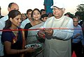 The Speaker, Lok Sabha, Shri Somnath Chatterjee inaugurating an exhibition on Nutrition, organised by the Ministry of Women and Child Development to celebrate the National Nutrition Week, in New Delhi on September 05, 2008.jpg