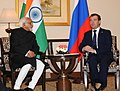 The Vice President, Shri Mohd. Hamid Ansari meeting the President of the Russian Federation, Mr. Dmitry A. Medvedev, in New Delhi on December 21, 2010.jpg