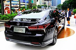 The backview of Lexus LS500h EXECUTIVE CN-Spec in Tianhe 08 (2018-11-04).jpg