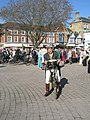 The compere of the vintage cycling display sets the scene - geograph.org.uk - 1251783.jpg