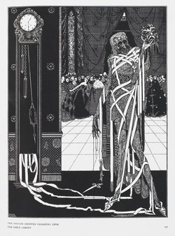 The dagger dropped gleaming upon the sable carpet - Harry Clarke (BL 12703.i.43).tif
