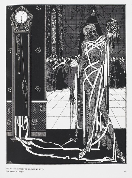 The dagger dropped gleaming upon the sable carpet - Harry Clarke (BL 12703.i.43)