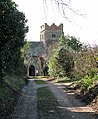The driveway to St Mary's church in Wimbotsham - geograph.org.uk - 1737222.jpg