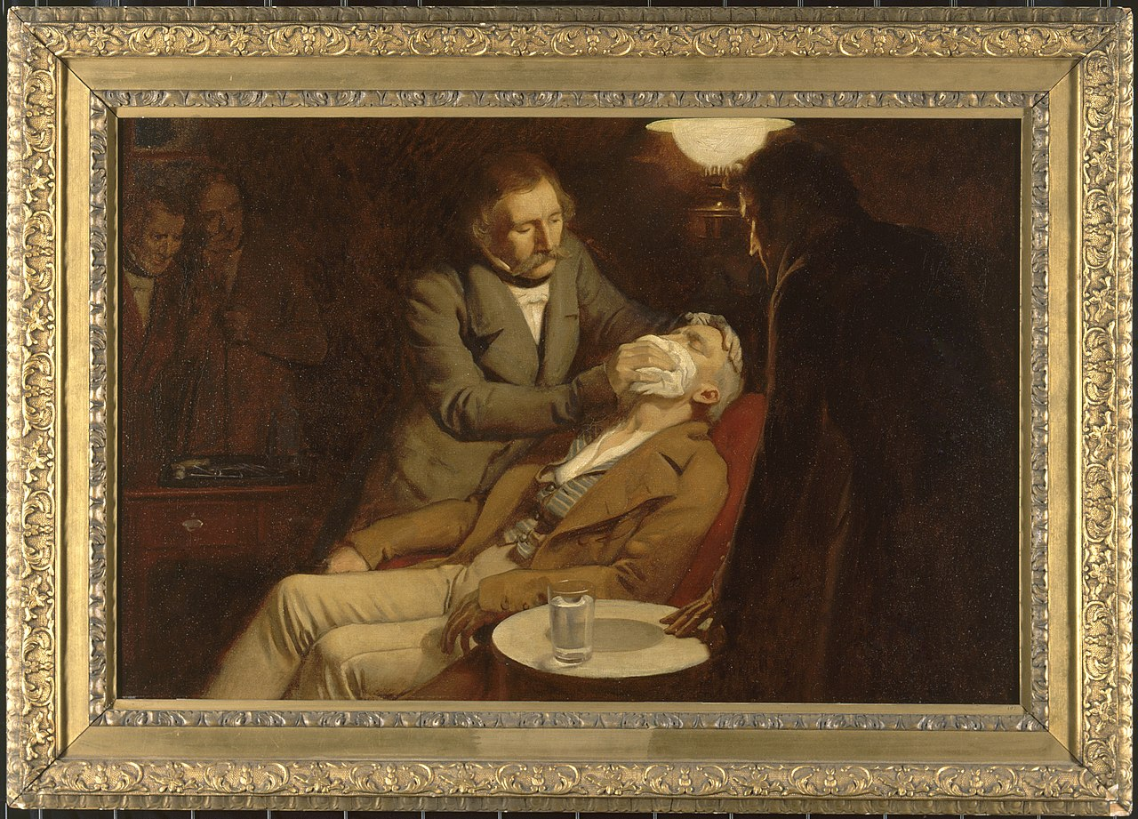 The first use of ether in dental surgery, 1846. Ernest Board. Wellcome V0018140.jpg