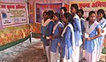 The girl students visiting the stalls, at the Bharat Nirman Public Information Campaign, organised by PIB, Kanpur, at Aligarh, Uttar Pradesh on October 22, 2013.jpg
