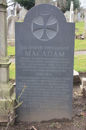 Ivison Macadam - The grave of Ivison Macadam, Portobello Cemetery, Edinburgh