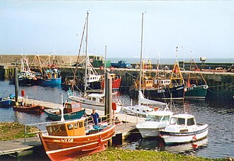 Sutherland - The harbour at Helmsdale