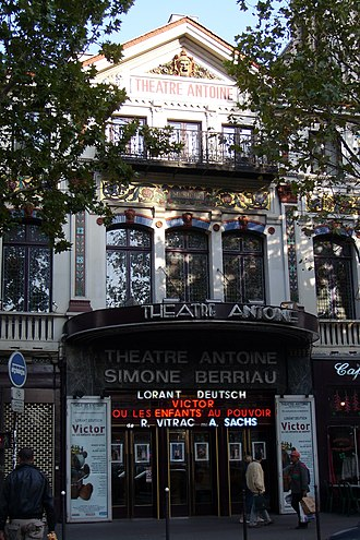 André Antoine - Le Théâtre Antoine, boulevard de Strasbourg, Paris