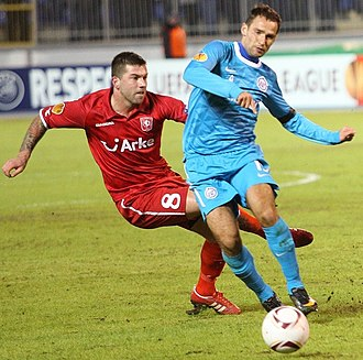 Theo Janssen - Janssen playing with Twente against Zenit, March 2011.