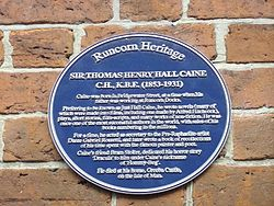 Thomas henry hall caine plaque