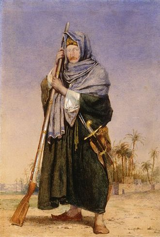 Thomas Phillips (mayor) - Sir Thomas Phillips, watercolour by Richard Dadd in Arab dress.