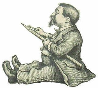 Thomas Nast - Self-caricature of Thomas Nast