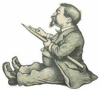 Thomas Nast - Self-caricature of Thomas Nast