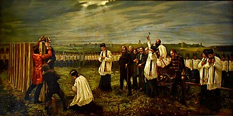 The 13 Martyrs of Arad - Execution of the Martyrs of Arad. Work by János Thorma